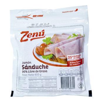 Zenú Jamón Sandwich 450 Gramos