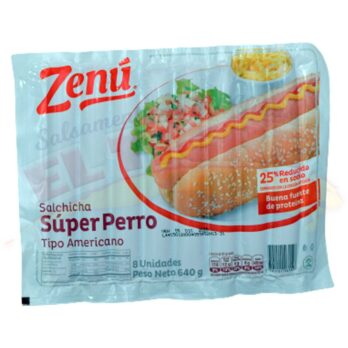 Zenu Salchicha Super Perro Americana x 8 Unidades