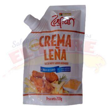 Salsa Zafrán Crema Leña x 200 Gramos